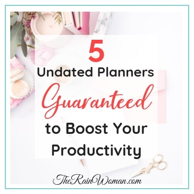 5 undated planners guaranteed to boost your productivity
